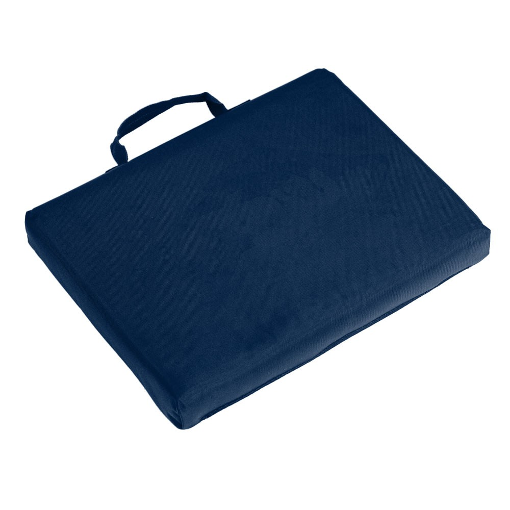 Image of Logo Brands Bleacher Cushion - Navy