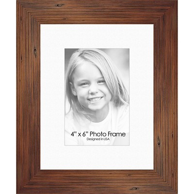"""4"""" x 6"""" Personal Photoframe Single Picture Frame Brown - PTM Images"""