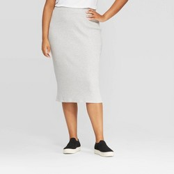 Women's Plus Size Rib Knit Skirt - A New Day™