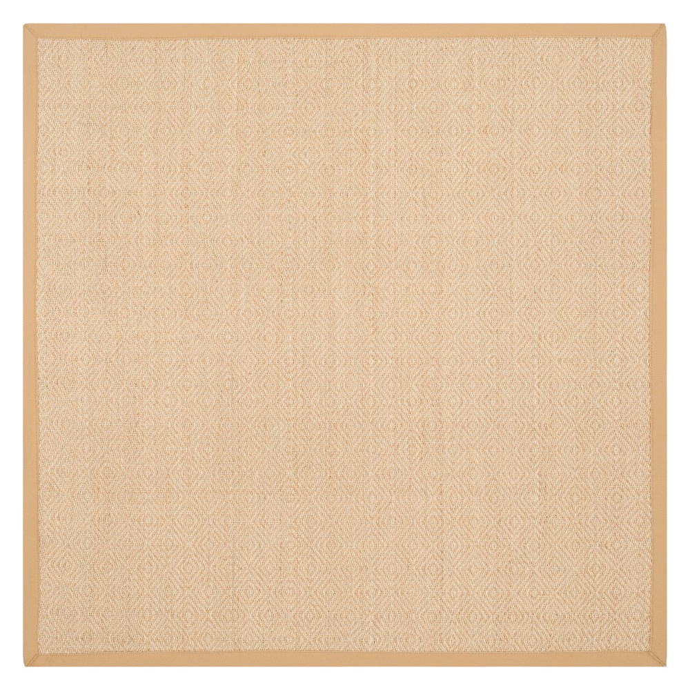 6'X6' Geometric Loomed Square Area Rug Natural/Beige - Safavieh