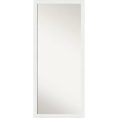 """27"""" x 63"""" Vanity White Framed Full Length Floor/Leaner Mirror - Amanti Art"""