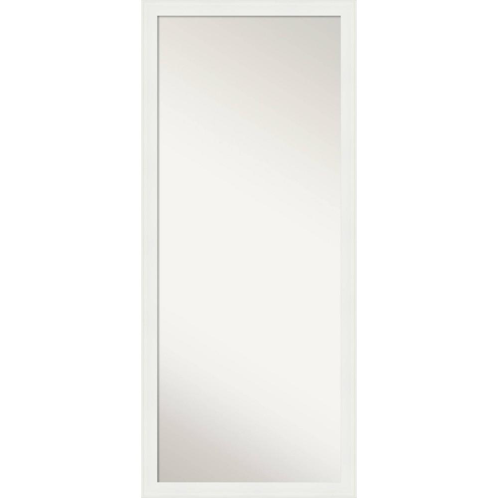 27 34 X 63 34 Vanity White Framed Full Length Floor Leaner Mirror Amanti Art