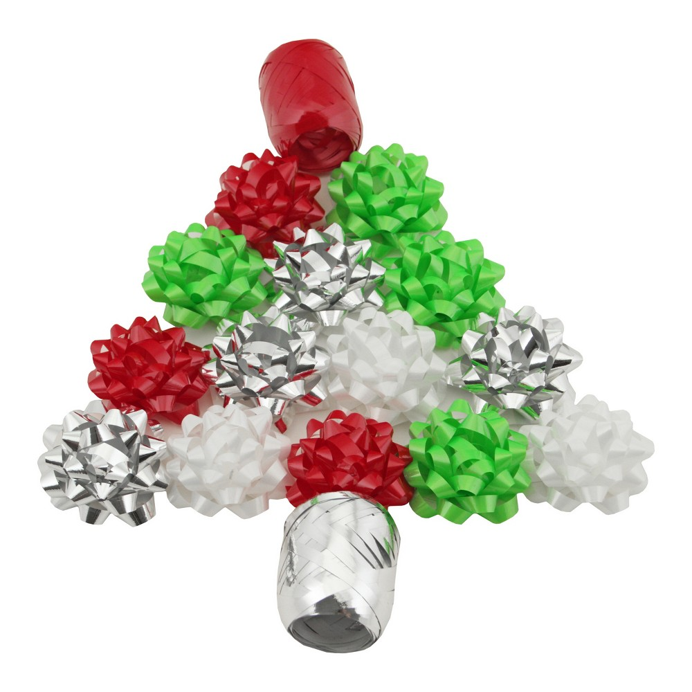 Red/Green/Gold Gift Bow and Keg Tube - Wondershop