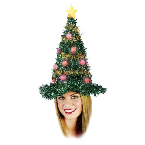 Christmas Tree Light Up Hat - image 1 of 1