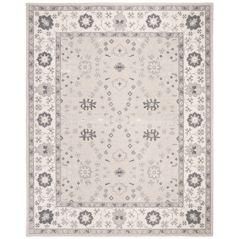 8'X10' Tufted Floral Area Rug Ivory - Safavieh, Ivory/Silver