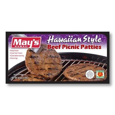 May's Hawaii Beef Picnic Patties - Frozen - 2lbs