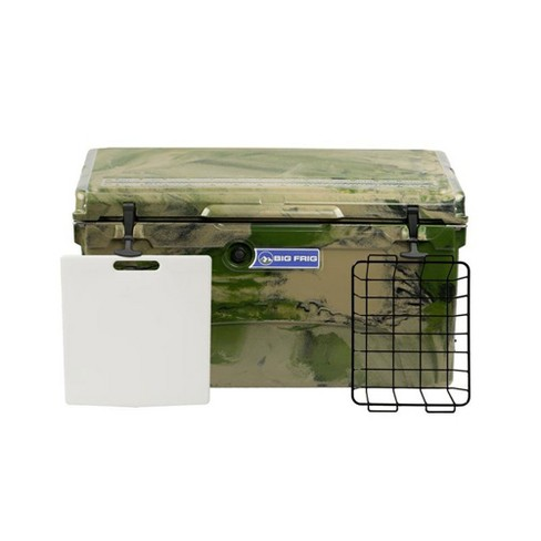 Big Frig Denali 75 Quart Insulated Cooler with Cutting Board and Basket, Camo - image 1 of 4