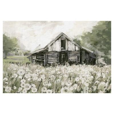"""24"""" x 36"""" Dandelion Barn by Studio Arts Wrapped Unframed Wall Art Canvas - Fine Art Canvas"""