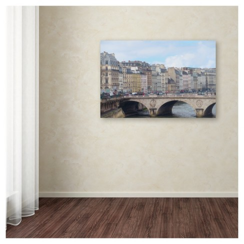 Center of Paris\' by Cora Niele Ready to Hang Canvas Wall Art : Target