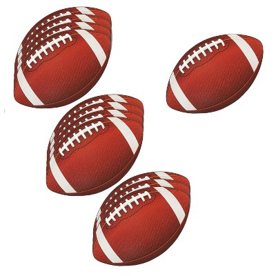 12-Pack Football Cutouts - Football Cutouts for Sports Themed Celebrations, Football Party Decorations, Tailgate Party Supplies, 13 X 8 inches