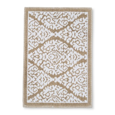 Floral Bath Mat Accent Bare Canvas - Threshold™