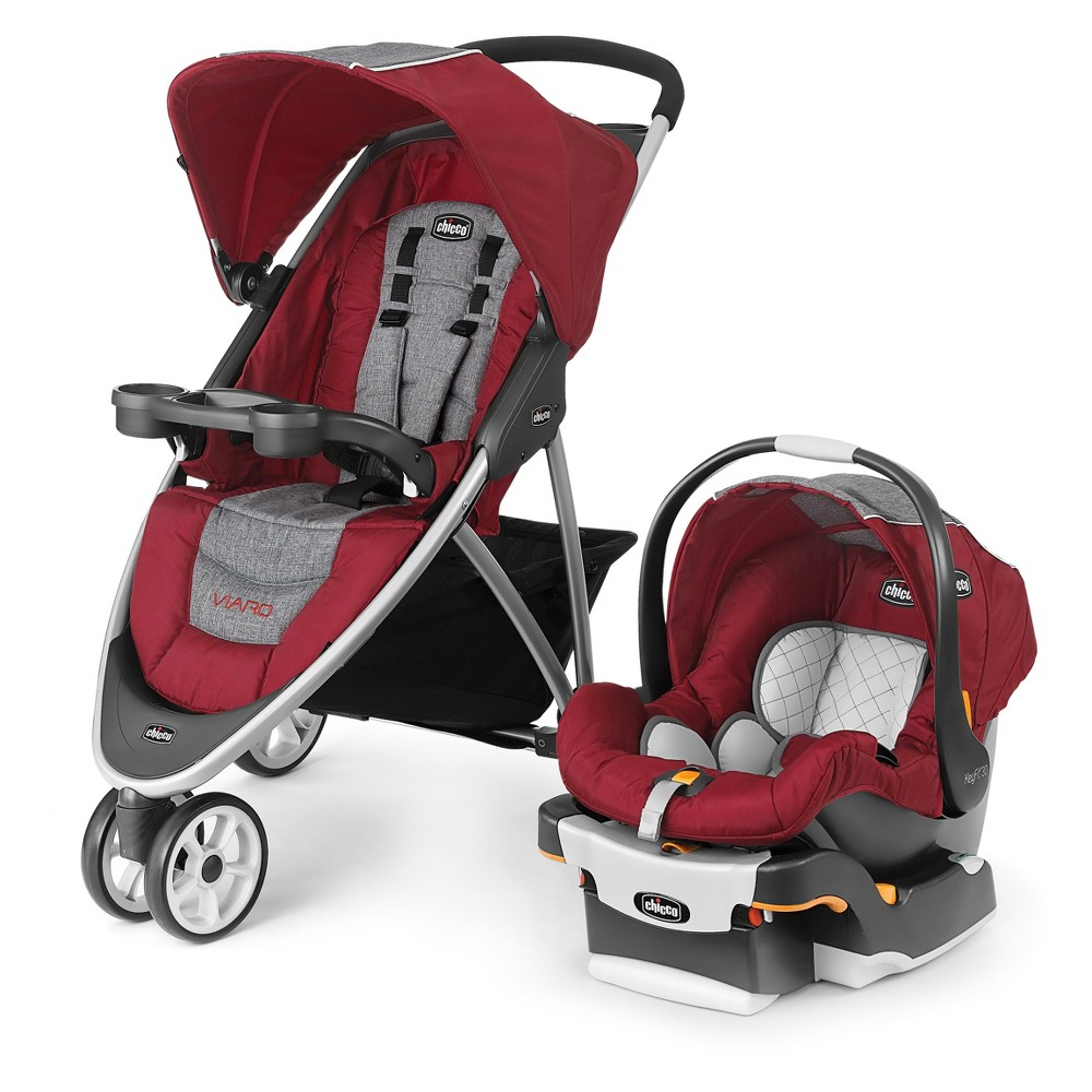 Chicco Viaro Travel System - Cranberry (Red)