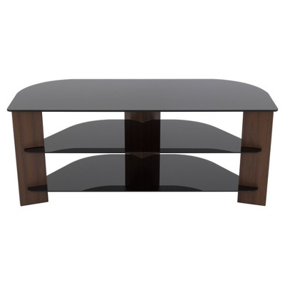 """55"""" TV Stand with Glass Shelves - AVF"""