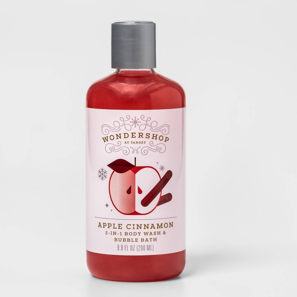 Image of Apple Cinnamon 2-in-1 Bubble Bath and Body Wash - Red - 9.8 fl oz - Wondershop