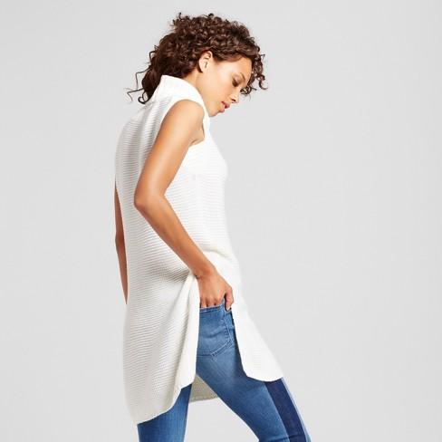 Women s Sleeveless Turtleneck Tunic Sweater - Alison Andrews® White   Target 1a864ca15c