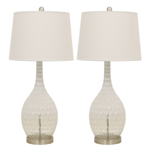(Set of 2) Fletcher Glass Genie Table Lamps Clear  - Decor Therapy - image 1 of 3