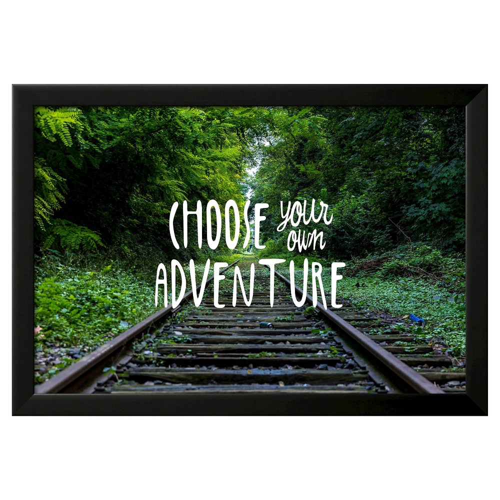 Art.com -Choose Your Own Adventure, Green With Black Frame