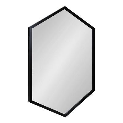 "24"" x 36"" Laverty Hexagon Wall Mirror Black - Kate & Laurel All Things Decor"