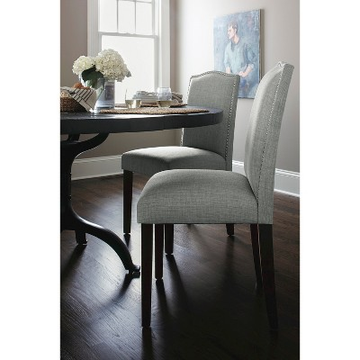 Camelot Nailhead Dining Chair Dove Gray   Threshold™