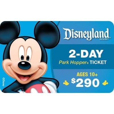 Disneyland Resort 2-Day Park Hopper, Ticket Ages 10+ $290 (Email Delivery)