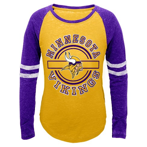 Minnesota Vikings Girls' Crew Neck T-Shirt - image 1 of 1