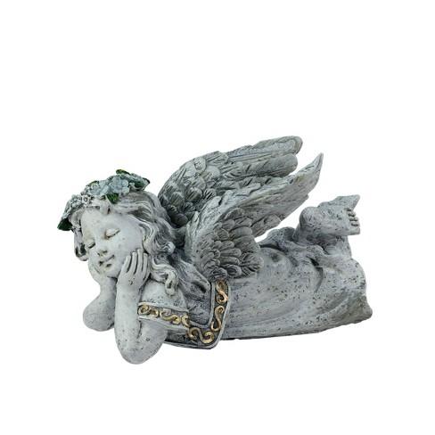 "Northlight 7.5"" Weathered Daydreaming Cherub Angel Outdoor Patio Garden Statue - Gray - image 1 of 1"