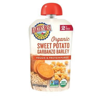 Earth's Best Organic Sweet Potato Garbanzo Barley Baby Food Pouch - 3.5oz