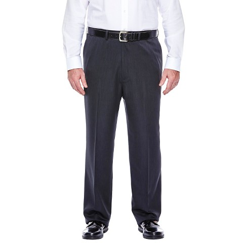 Haggar H26 - Men's Big & Tall Classic Fit Performance Pants Charcoal Heather 48x34 - image 1 of 2