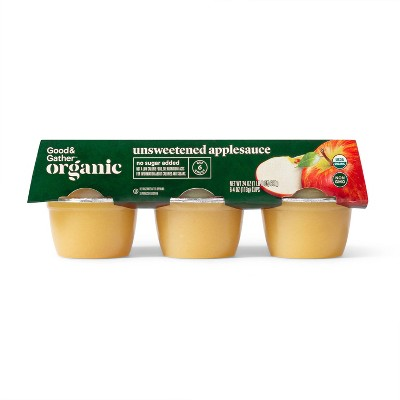 Organic Unsweetened Applesauce Cups - 6ct - Good & Gather™
