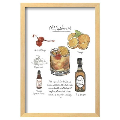 Classic Cocktail - Old Fashioned By Naomi Mccavitt Framed Poster 13 X19  - Art.Com
