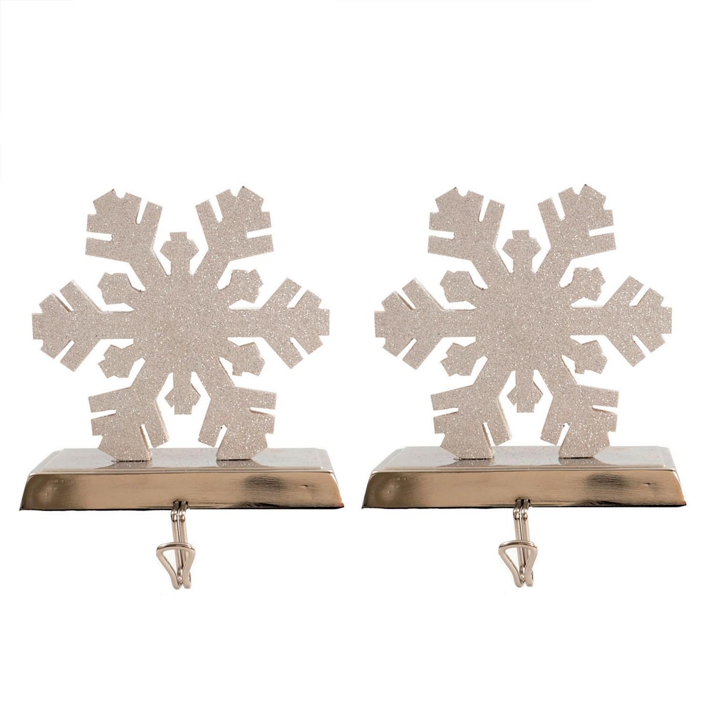 Wood Snowflake Christmas Stocking Holder 2ct - Wondershop™ - image 1 of 2