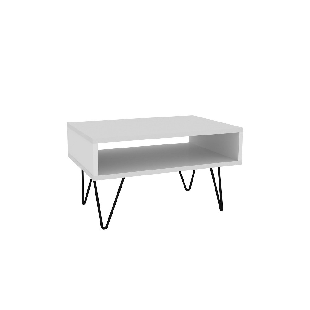 "Image of ""21.06"""" Nolita Coffee Table with 1 Cubby White - Manhattan Comfort"""