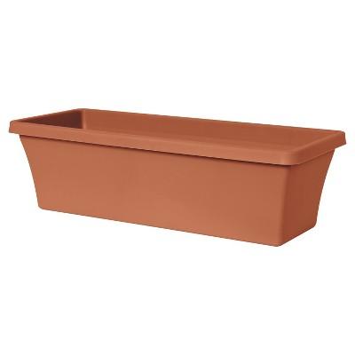 Rectangular 24  Terra Cotta Window Box Planter - Taupe - Bloem®