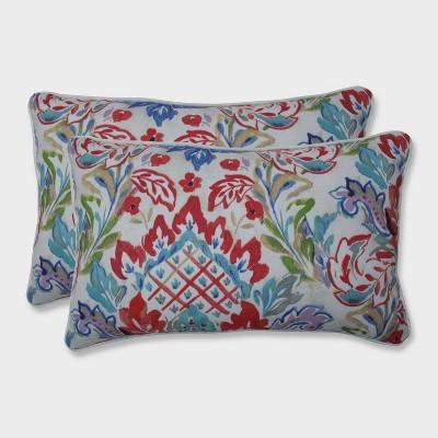 2pk Flying Colors Confetti Rectangular Throw Pillows Pink - Pillow Perfect