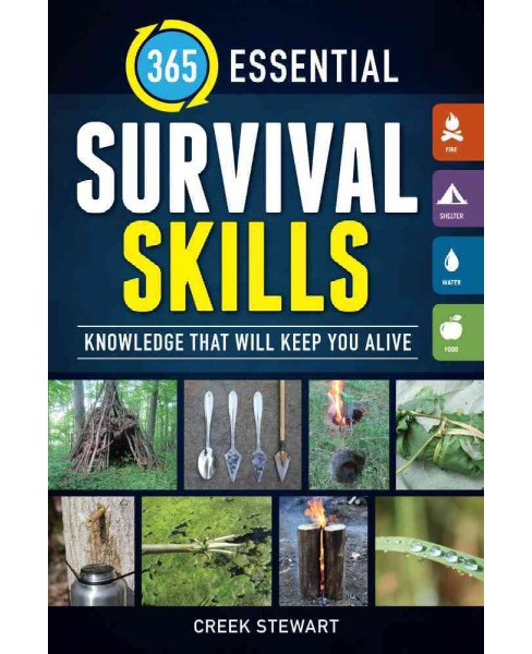 365 Essential Survival Skills : Knowledge That Will Keep You Alive (Paperback) (Creek Stewart) - image 1 of 1