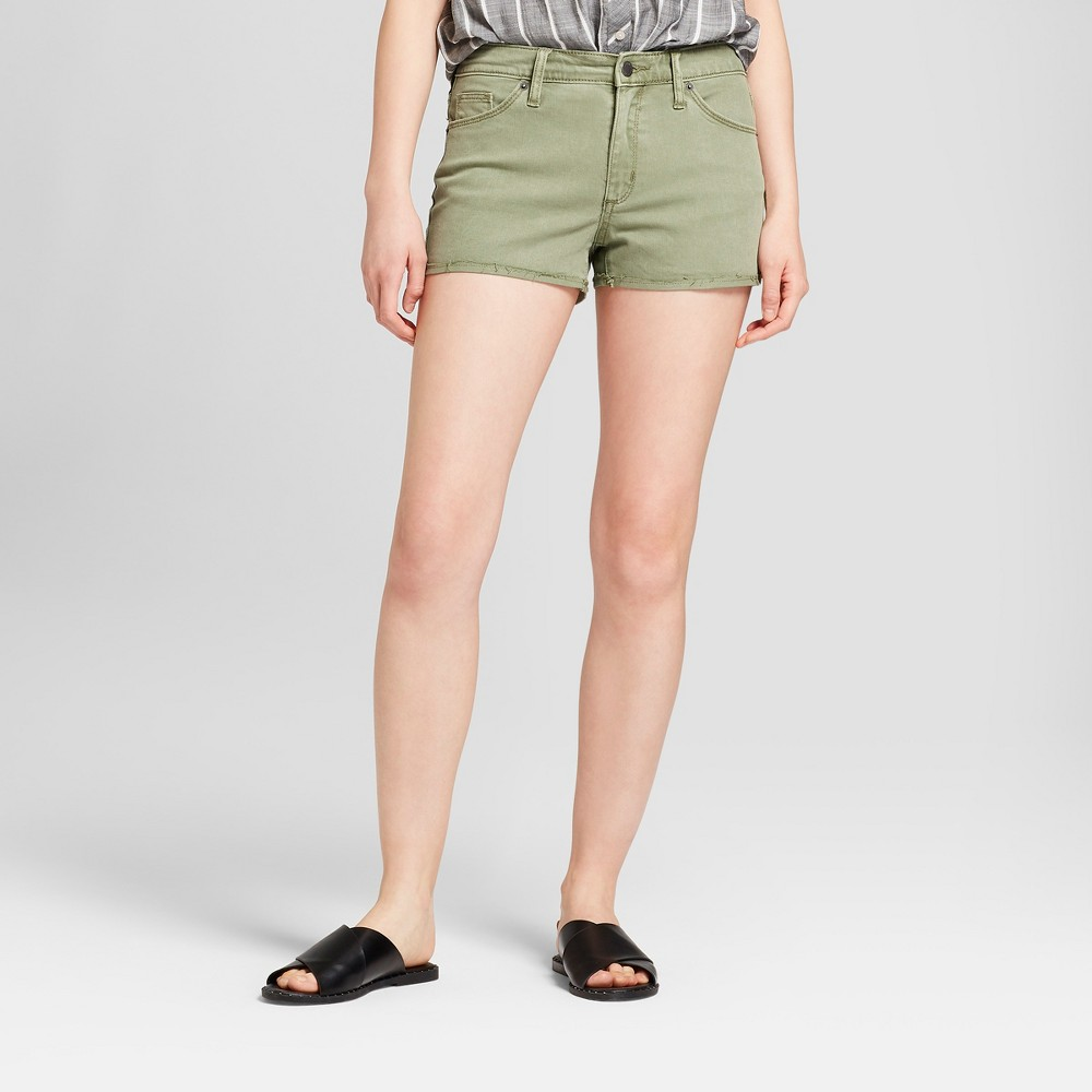 Women's High-Rise Jean Shorts - Universal Thread Green 8