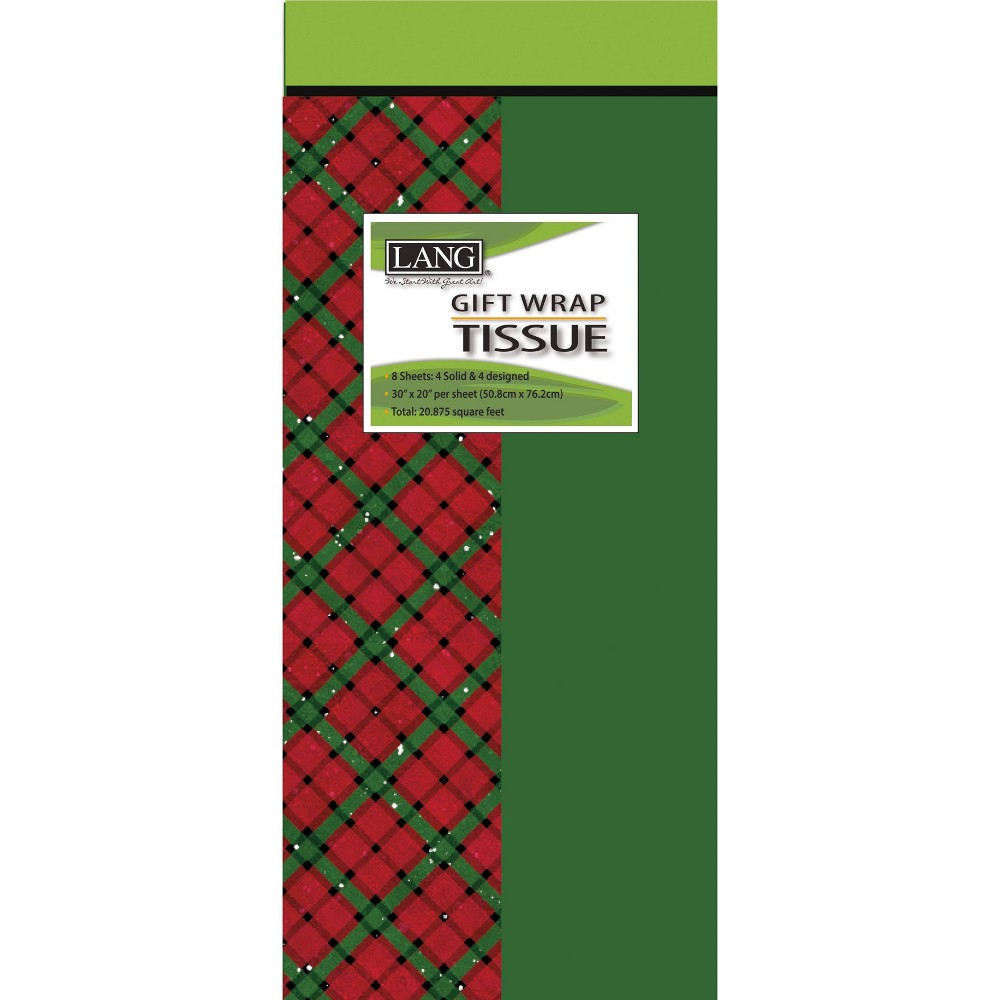 Image of 8ct Evergreen Christmas Tissue Paper