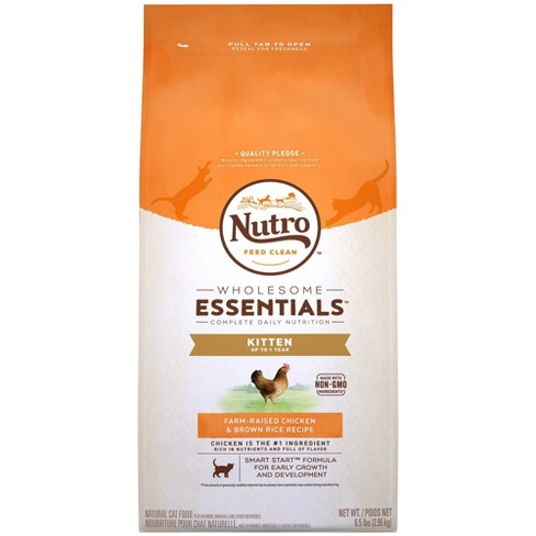 Nutro Kitten Wholesome Farm-Raised Chicken & Brown Rice Recipe Dry Cat Food - 6.5lb - image 1 of 4