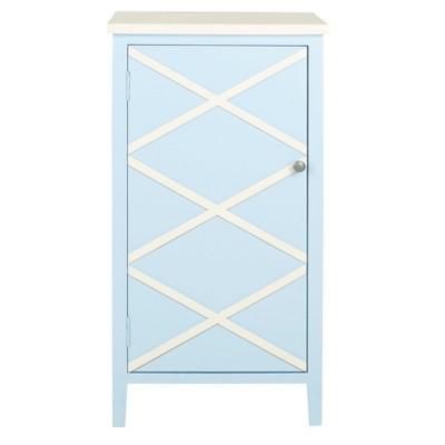 Zara Storage Cabinet Light Blue - Safavieh