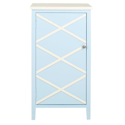 Zara Storage Cabinet Light Blue - Safavieh® - image 1 of 4