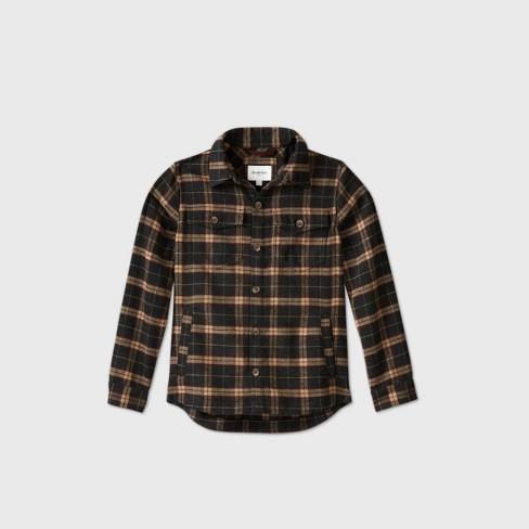 Men's Big & Tall Plaid Shirt Jacket - Goodfellow & Co™ 5XB - image 1 of 2