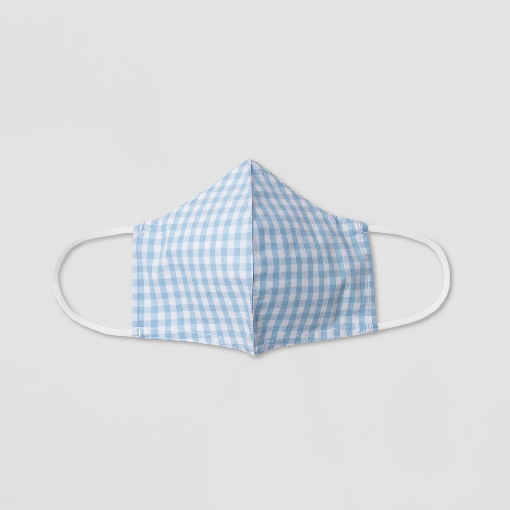 Women 39 S Gingham Print Mask Who What Wear 8482 Blue S M