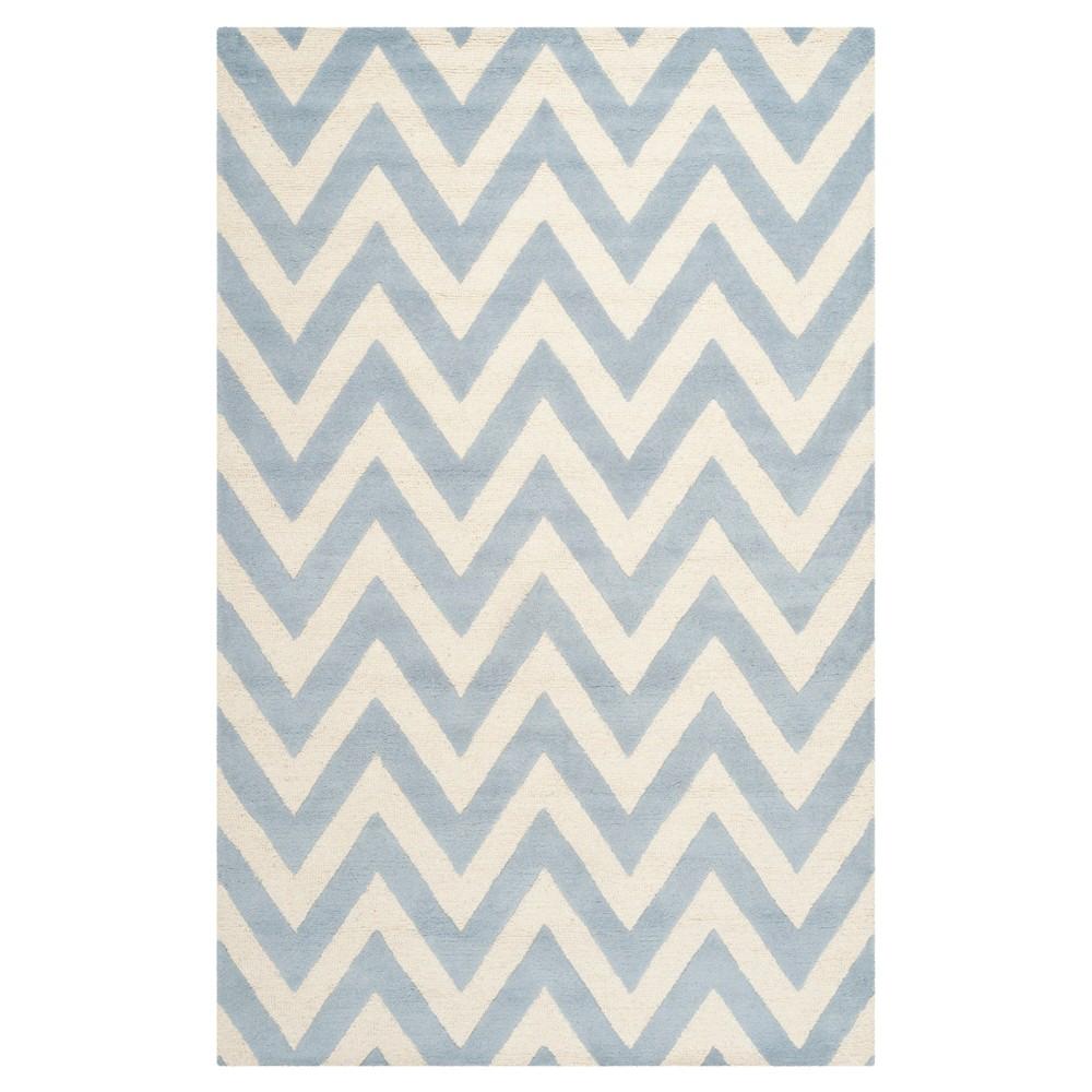Dalton Textured Rug - Light Blue / Ivory (4' X 6') - Safavieh, Light Blue/Ivory