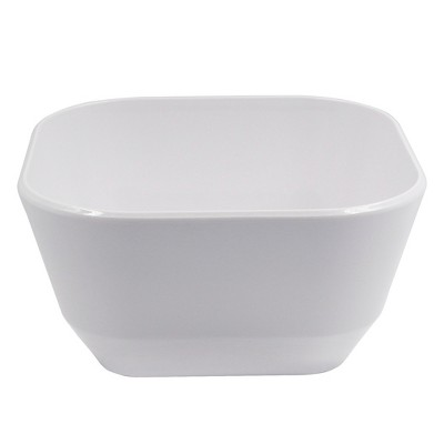 Square Melamine Fruit Bowl 67.5oz White - Room Essentials™