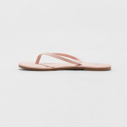 1eb63afe8a5b Women s Ava Skinny Strap Flip Flop - Shade   Shore™ Blush 11   Target