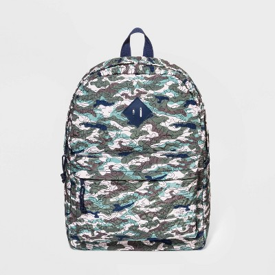 Boys' Quilted Camo Backpack - Cat & Jack™ Green