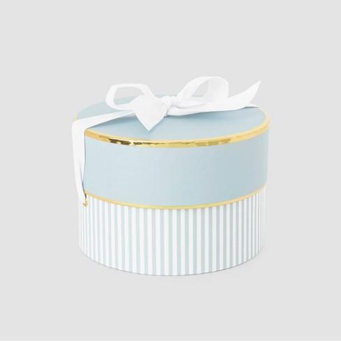 Blue & White Stripe Small Round Box - Sugar Paper™ - image 1 of 3