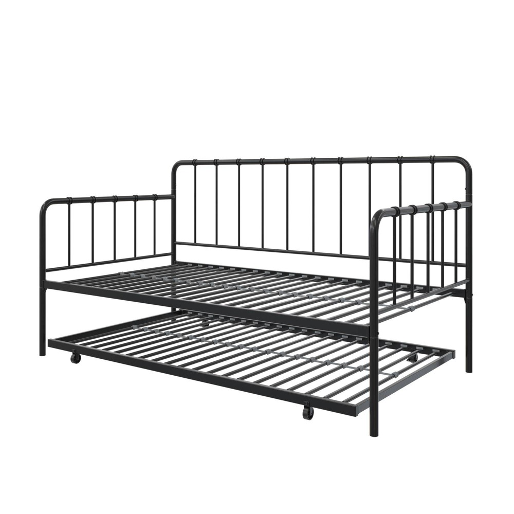Avery Metal Twin Daybed And Twin Trundle Black Room Joy