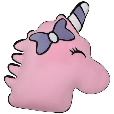 Two Scoops Pink Unicorn Fleece Pillow - image 1 of 2