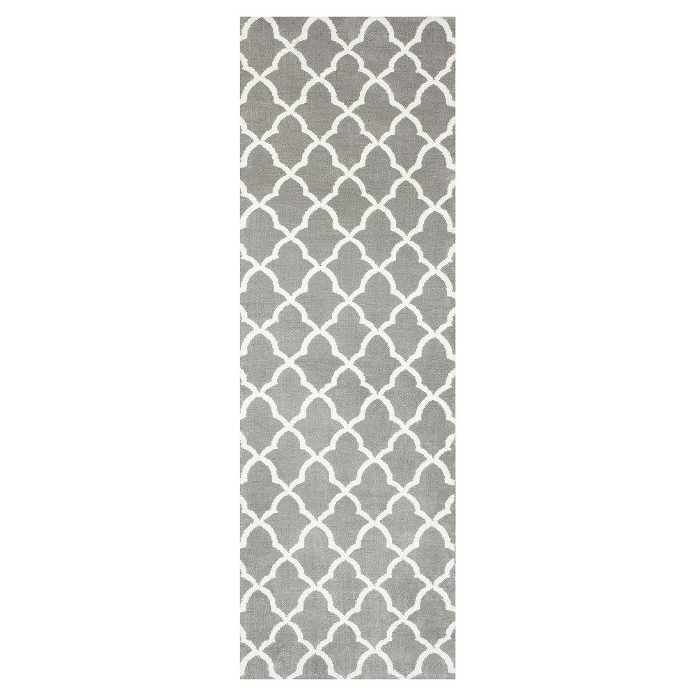 Sterling Gray Solid Loomed Area Rug - (3'x6') - nuLOOM, Grey